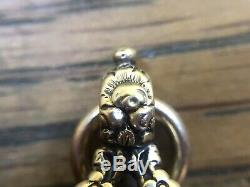 Antique 12ct Gold Fob Wax Seal Stamp With Carved Carnelian, Victorian Era