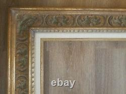 Antique Beautiful Hand Carved Gold 27 x 24 Frame hold 20 x 16