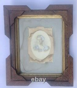 Antique Carved Wood Picture Frame Deep Layered Edge Gold Eastlake 1800's withGlass