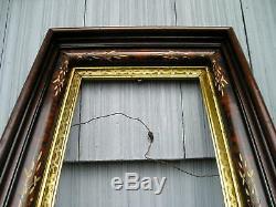 Antique Deep Victorian Carved Eastlake Picture Frame Lovely Gold Gilt Liner 810