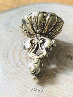 Antique Early Victorian 9 Ct Gold Cased Fob Seal / Pendant 1850s Carved Citrine