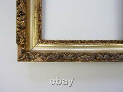 Antique Gold Lemon Gilt Frame PAIR Victorian Gilded Ornate Carved GESSO Painting