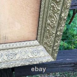 Antique Ornate 1890s Victorian Gold Gilt Carved Wood Frame 25 X 20