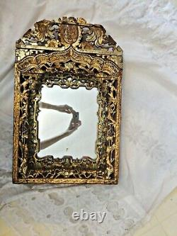Antique Ornate Victorian Carved Gilded Wood Mirror Baroque / Rococo Gothic