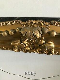 Antique Ornate Wood Carved Frame Victorian Gesso SHABBY Gilt Gold Baroque 16x20