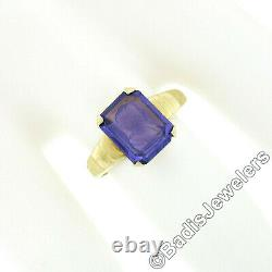 Antique Victorian 10k Gold Amethyst Petite Hand Carved Male Intaglio Cameo Ring