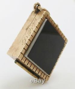 Antique Victorian 10k Gold locket carved onyx intaglio