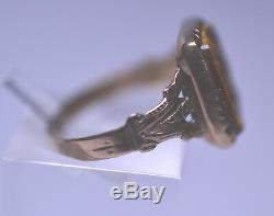Antique Victorian 10k Yellow Gold Carved Tiger Eye Stone Cameo Ring Size 5.75