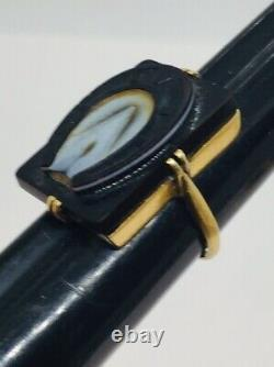 Antique Victorian 14k Yellow Gold Carved Sardonyx Horseshoe Ring Size 5.75