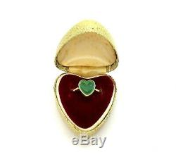 Antique Victorian 15ct Gold Carved Green Chalcedony Sweetheart Ring Size Q/R