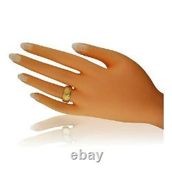 Antique Victorian 18ct Yellow Gold Carved Wedding Ring 1884