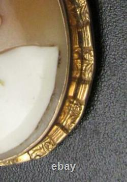 Antique Victorian 9ct Rose Gold Carved Cameo Shell Necklace Pendant 9gm 9k 375