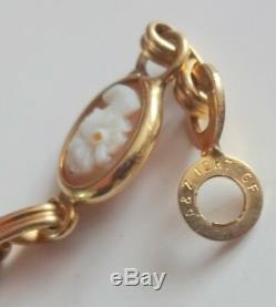 Antique Victorian CARVED GENUINE Cameo 12k Gold Filled GF Bracelet 1930's