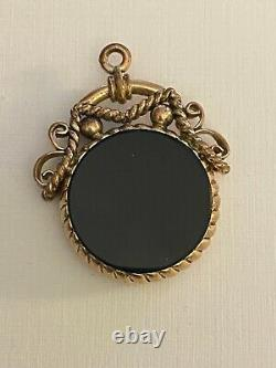 Antique Victorian Carved Onyx Intaglio Gold Filled Pendant or Charm