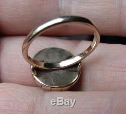 Antique Victorian Carving Sardonyx Star Diamond 375 ct. 9 ct. Gold Ring
