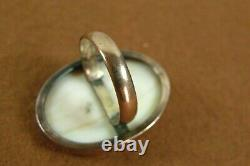 Antique Victorian Georgian 9K 9 Carat Solid Gold Carved Shell Cameo Ring