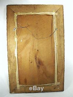 Antique Victorian Lavish Ornate Rectangular Carved Gold Wood Frame Wall Mirror