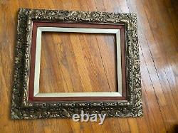 Antique Victorian Ornate Gilt Wood & Gesso Carved Picture Frame 28 x 32