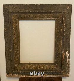 Antique Victorian Ornate Gilt Wood & Gesso Carved Picture Portrait Frame