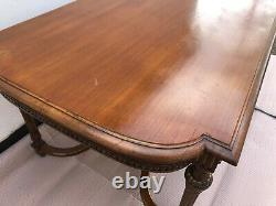 Antique Victorian Walnut Dining/Centre Table with gold decorative detail
