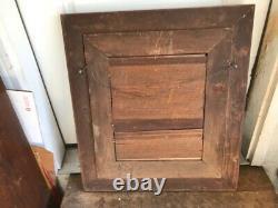 Antique Vtg Large Oak Wood Carved Picture Frame 29 X 26