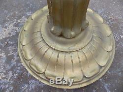Antique, carved, gilt, standard lamp, light, gold, ornate, floor, light, round base, lamp