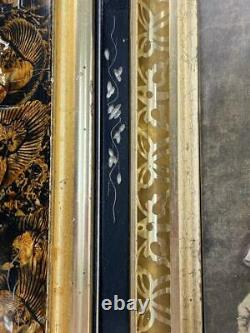 Beautiful Antique Victorian Eastlake Carved & Gold Picture Frame Vtg