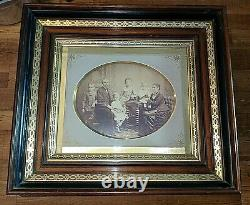 Gorgeous Antique Aesthetic Carved Victorian Deep Walnut Lemon Gold Picture Frame