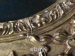 LARGE Vintage Carved Victorian Antique Frame Gold CANVAS ANGEL ART PAINTING