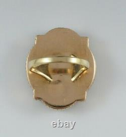 Late 1800s Victorian 14k Gold Intaglio Carved Onyx Greco Roman Seal Ring