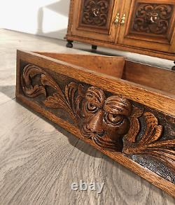 Magnificent Victorian Golden Oak Heavily Carved Buffet Of High Quality