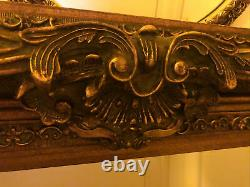 Mirror Antique Victorian Intricately Carved Gilt Framed Wall Mirror