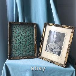 Pair Antique Wood Gesso Victorian French Frames Carved Gilt Picture Gold 11