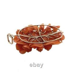 Victorian 14K Gold & Carved Coral Figural Pendant