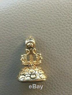 Victorian 15 Karat Gold Fob Seal Pendant Amethyst Carved