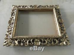 Victorian 19th Century French Gold Leaf Wooden Carved Picture Frame