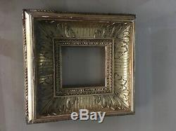 Victorian 19th Century Italian Gold Leaf Wooden Carved Picture Frame