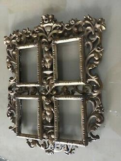 Victorian 19th Century Italian Gold Leaf Wooden Carved Picture Frame 280x350mm