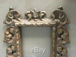 Victorian 19th Century Italian Wooden Carved Picture Frame