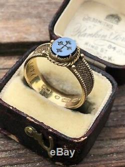 Victorian Antique Hair Surround Carved Cross Sardonyx Yellow Gold Ring