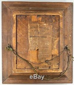 Victorian EASTLAKE Walnut Gilt GOLD Black Carved Shadow Box Frame