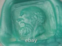 Victorian Solid 10k Gold Citrine Carved Intaglio Wax Seal Fob Pendant Socrates