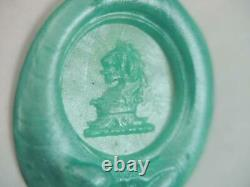 Victorian Solid 14k Gold Carved Bloodstone Intaglio Wax Seal Stamp Charm Fob