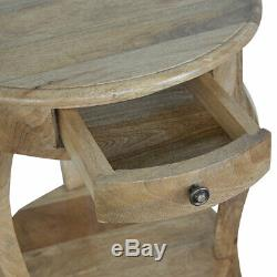 Victorian Style Bedside, 100% Solid Mango Wood, Handcrafted