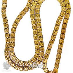 Victorian antique solid 10k gold carved Cameo book chain necklace