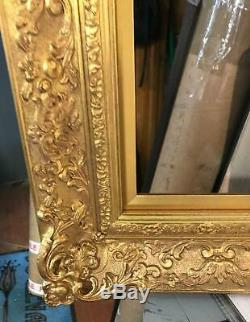 Vintage Fine frame guilt frame antique gold leaf hand finished ornate carved