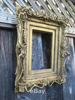 Wood Gesso gilt gold frame for KPM plaque carved Victorian Era insp. Vintage