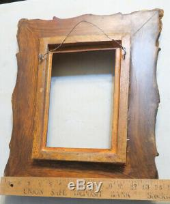 Wood Gesso gilt gold frame for KPM plaque carved Victorian Era inspired Vintage