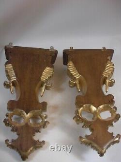 XXL 23 Carved Wood Gold Gilt Wall Brackets Victorian Chippendale Rococo Style